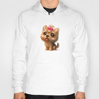 terrier Hoodies featuring Yorkshire Terrier by Antracit