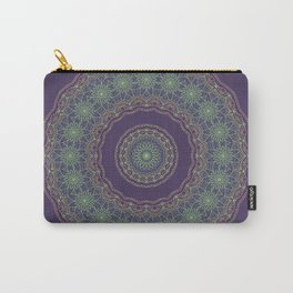 Lotus Mandala in Dark Purple Carry-All Pouch