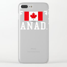 Canada T-Shirt Clear iPhone Case