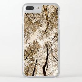 Sepia fall Clear iPhone Case