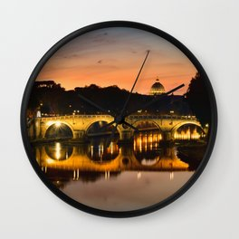 St. Peter in the Vatican with Ponte Sisto in first term. Wall Clock