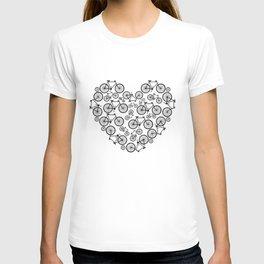 Black and White - Love Bikes T-shirt