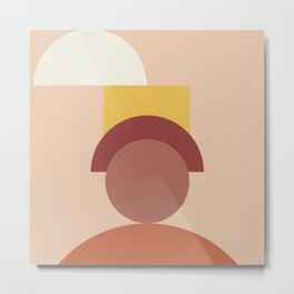 Geometric terracotta V Metal Print