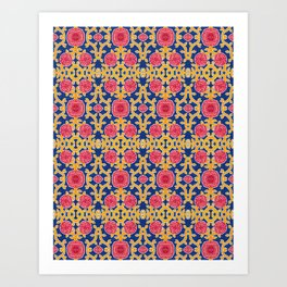 Royal Rosa Mundi Art Print