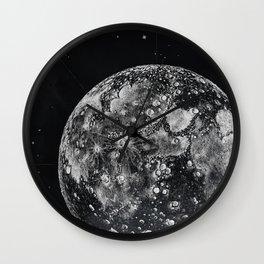 Moon and Universe Wall Clock