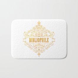 Gold Bibliophile Bath Mat