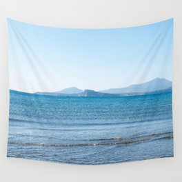Blue sea in the Bay of Naples Wall Tapestry