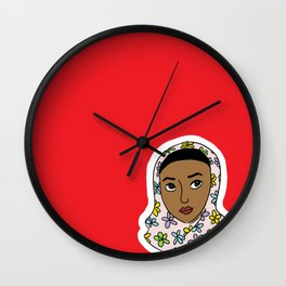 girl in red Wall Clock