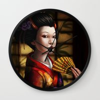 japanese Wall Clocks featuring Japanese by Ayu Marques