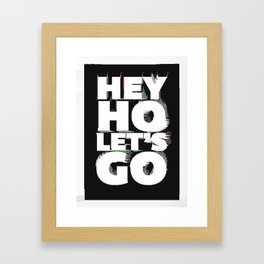hey ho Framed Art Print