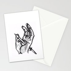 Hands of a killer  Stationery Cards