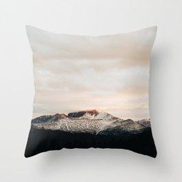 Sunset on Trail Ridge Throw Pillow