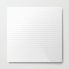 NEUROTIC PATTERN II Metal Print
