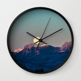 The Rising Moon Wall Clock