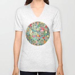 Gilt & Glory - Colorful Moroccan Mosaic Unisex V-Neck