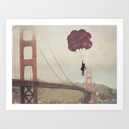 Floating over the Golden Gate Art Print
