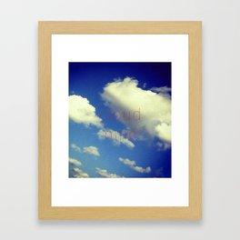 """Cloud Nine"" Framed Art Print"