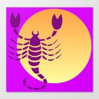scorpio Canvas Prints featuring Scorpio by Geni
