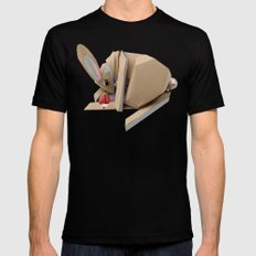 Unlucky Rabbits Foot MEDIUM Black Mens Fitted Tee