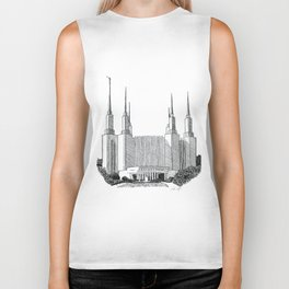 Washington DC LDS Temple Biker Tank