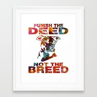 pitbull Framed Art Prints featuring PITBULL by AR PHOTOGRAPHY & GRAPHIC DESIGN