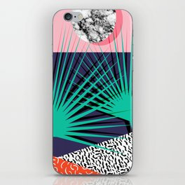 Head Rush - palm springs throwback desert sunrise neon 80s style vintage fresh home decor hipster co iPhone Skin