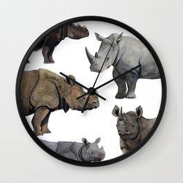 5 RHINOS Wall Clock