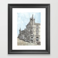 Old Fresno Framed Art Print