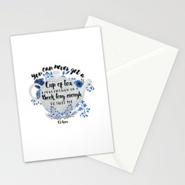 Tea & Books (CS Lewis Quote) Stationery Cards