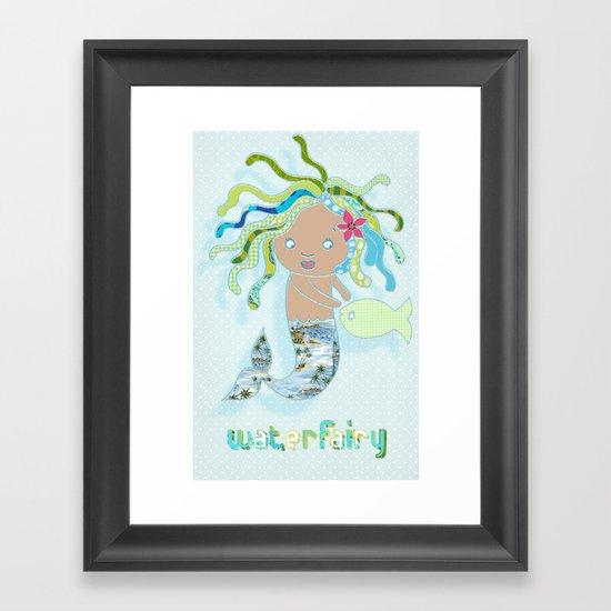 Water Fairy Mermaid Framed Art Print