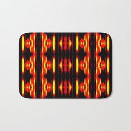 Orange Yellow Black Abstract Fire Pattern Bath Mat