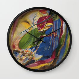 Wassily Kandinsky - Picture With Three Spots Wall Clock