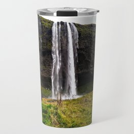 Seljalandsfoss Waterfall in Southern Iceland (2) Travel Mug