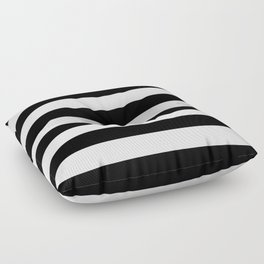 Stripe Black & White Horizontal Floor Pillow