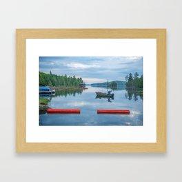 Palmerston Lake Framed Art Print