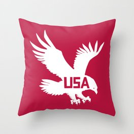 National Bird of America Throw Pillow