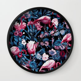 Floral and Flamingo VIII Wall Clock