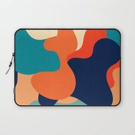 Retro 70's and 80's colorful fluid abstraction Laptop Sleeve