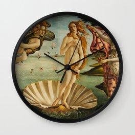 The Birth Of Venus Painting Sandro Botticelli Wall Clock