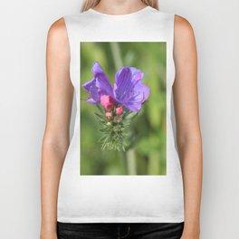 Viper's bugloss blue and pink flowers 2 Biker Tank