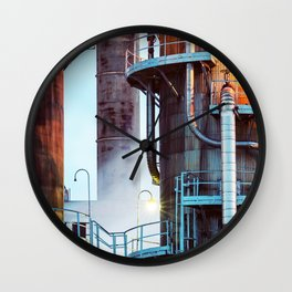 Steaming Pipes Wall Clock