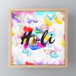 Holi Framed Mini Art Print