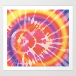 Tie-dye pattern Art Print