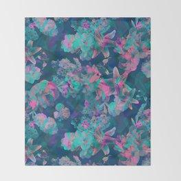 Geometric Floral Throw Blanket
