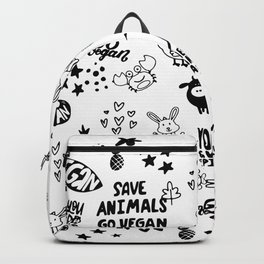 Vegan Pattern Backpack