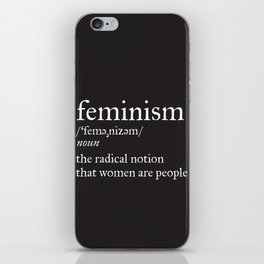Feminism Definition iPhone Skin