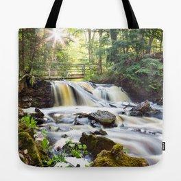 Upper Chapel Falls at Pictured Rocks National Lakeshore - Michigan Tote Bag