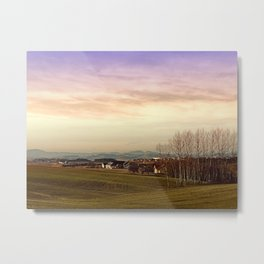 Beautiful panorama under a cloudy sky | landscape photography Metal Print