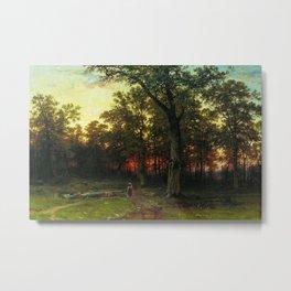 Woods in the Evening by Ivan Shishkin Metal Print