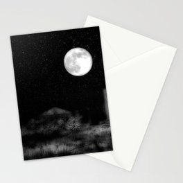 Alien Moon Stationery Cards